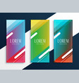 vibrant set vertical banners set in geometric vector image vector image