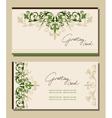 Vintage greeting cards floral motifs vector image