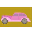 Vintage pink car vector image