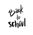 welcome back to school lettering text logo vector image vector image