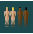 With naked men body front and back view in flat vector image