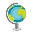world planet earth map vector image vector image