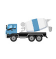 concrete mixer truck isolated on white background vector image