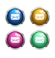message letter buttons vector image