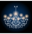 Antique gothic vintage chandelier vector image