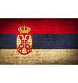 Flags Serbia with dirty paper texture vector image
