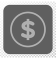Dollar Rounded Square Button vector image