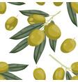 seamless olive pattern tile green olive vegetable vector image