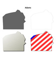 Adams Map Icon Set vector image vector image