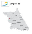 administrative map south korean province gangwon vector image