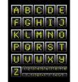alphabet notice board vector image vector image