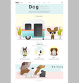 Animal website template banner and infographic vector image vector image