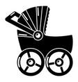baby carriage big icon simple black style vector image vector image