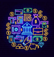 banking neon concept vector image vector image
