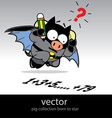 Bat pig vector image vector image