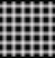 black gingham pattern seamless background vector image vector image