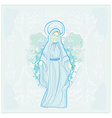 Blessed Virgin Mary vector image vector image