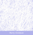 blue Christmas hand drawn background vector image vector image