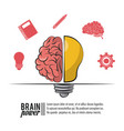 brain power poster vector image vector image