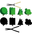 bush cutting set vector image vector image