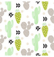 cactus plant seamless pattern abstract vector image vector image