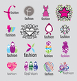 Collection of logos fashion accessories vector image vector image