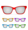 color framed sunglasses vector image vector image