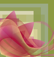 Colorful flower with waves on a square gradient vector image vector image