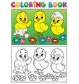 coloring book bird image 6 vector image vector image