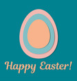 cute easter greeting card vector image vector image