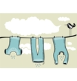 Drying Clothes Background vector image
