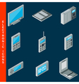 Electronic equipment icons vector image vector image