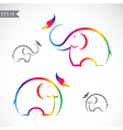 Elephant and butterflies vector image