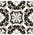 embroidery floral black and white seamless vector image vector image
