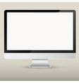 Empty computer screen vector image vector image