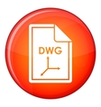 File DWG icon flat style vector image vector image