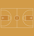 flat basketball field top view of basketball cour vector image vector image