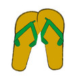 flip flops sandals vector image vector image
