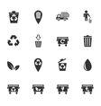 garbage icon set vector image vector image