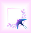 gentle background with swallow vector image vector image