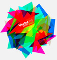 Geometric Abstract Colorful vector image vector image