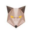 geometric wolf vector image