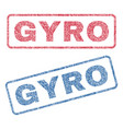 gyro textile stamps vector image vector image