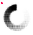 halftone dots graphic elements abstract vector image vector image