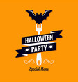 halloween menu design background valformenu vector image