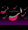 happy diwali celebration in paper cut design vector image vector image