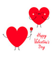happy valentines day sign symbol red heart couple vector image vector image