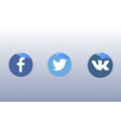 icons for social networks apps and web vector image