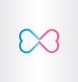 infinite love infinity heart sign vector image vector image