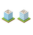 isometric abstract buildings vector image vector image